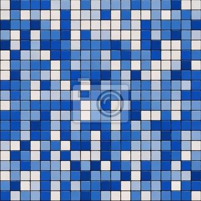 Plakat Seamless mały niebieski tekstury płytek