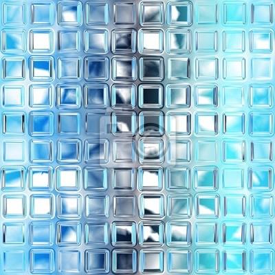 Plakat Seamless niebieski tekstury płytki szklane