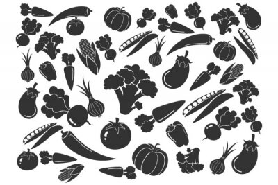 Plakat seamless pattern with vegetables