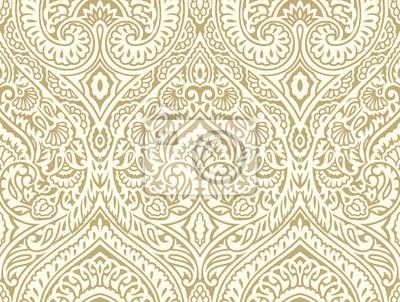 Plakat Seamless vintage damask wallpaper design