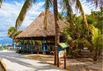 Plakat Seaside bar w kubańskiej plaży w Varadero