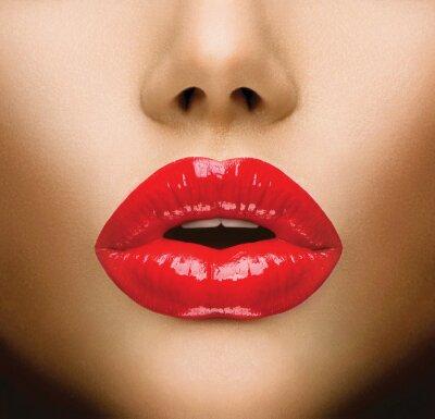 Plakat Seksowne usta. Pocałunek