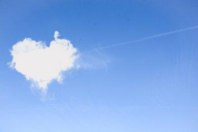 Plakat Serce Chmura