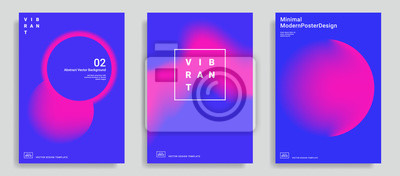 Plakat Set modny abstrakcjonistyczny projekta szablon