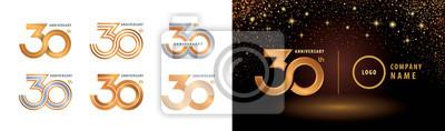 Plakat Set of 30th Anniversary logotype design