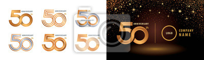 Plakat Set of 50th Anniversary logotype design