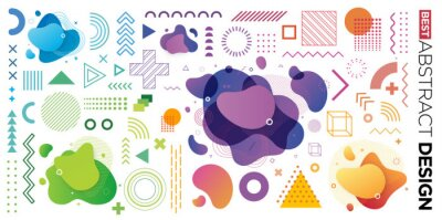 Plakat Set of Abstract Modern Graphic Elements