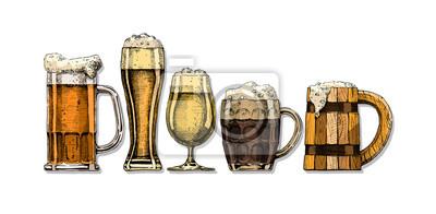 Plakat set of beer glasses