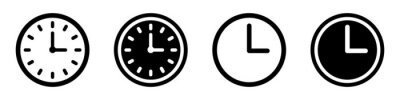 Plakat Set of clock icons. Clock, time.