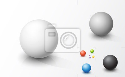 Plakat Set of colored spheres