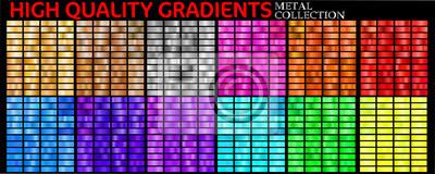 Plakat Set of colorful gradients