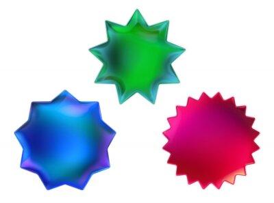 Set of Iridescent shapes