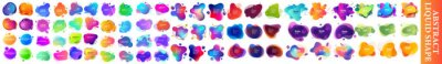 Plakat  Set of Liquid Gradient Shapes and Banners. abstract liquid shape, Set of modern abstract liquid shapes and banners. graphic design elements. Vector illustrations for logo design,bright colorful paint