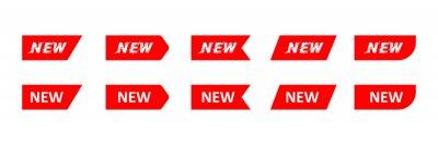 Plakat set of red labels