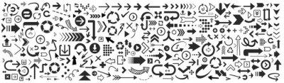 Plakat Set of vector arrows