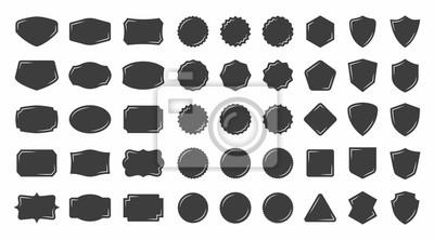 Plakat Set of vintage shape badge vector silhouette