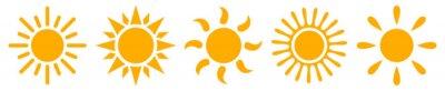 Plakat Set sun icons - stock vector