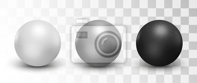 Plakat Set wektorowe sfery i piłki na białym tle