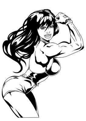 Plakat sexy girl