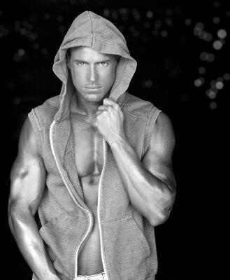 Plakat Sexy mężczyzna mięśni
