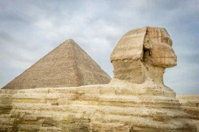Plakat Sfinks i piramidy Cheopsa