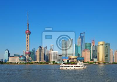 Plakat Shanghai skyline