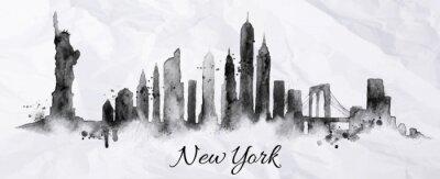 Plakat Silhouette ink New york