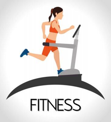 Plakat Siłownia i fitness styl życia