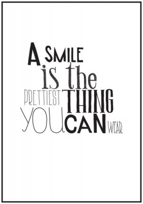 Plakat Simple black and white poster with a motivational phrase