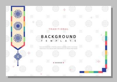 Plakat Simple Korean traditional pattern template