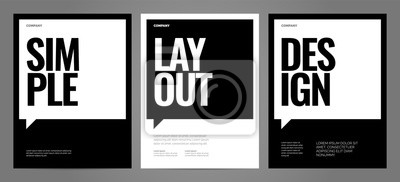 Plakat Simple template design with typography for poster, flyer or cover.