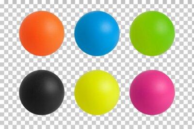 Plakat six colorful plastic balls