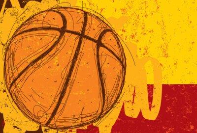 Plakat Sketchy Koszykówka tła