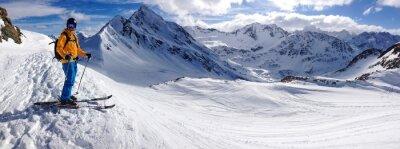 Plakat Skifahrer