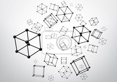 Skład elementów szkieletowych w postaci kostki