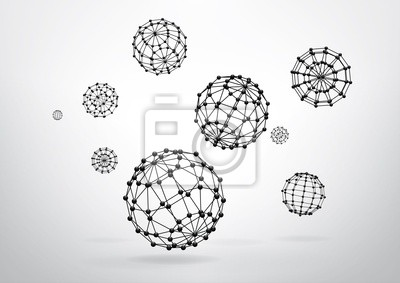 Skład elementów szkieletowych w postaci kuli