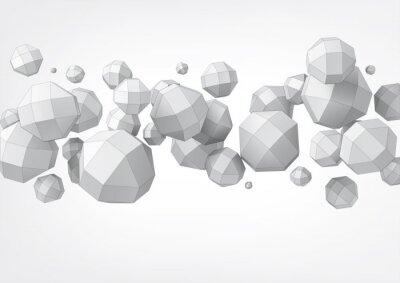 Plakat Skład rhombicuboctahedron do projektowania graficznego