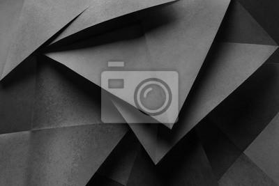 Plakat Skład z geometrycznymi kształtami, abstrakcjonistyczny tło
