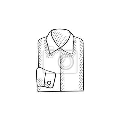 Plakat Składane ikonę męskiej koszuli szkic. na wymiar  VoNxp