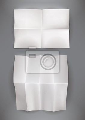 składany puste plakat