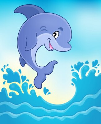 Plakat Skoki delfinów theme image 6