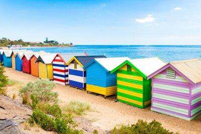 Plakat Skrzynki kąpielowe w Brighton Beach, Australia