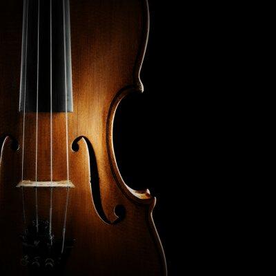Plakat Skrzypce orkiestra instrumentów muzycznych