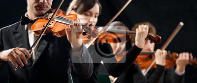 Plakat Skrzypce Orkiestra jego efektywności