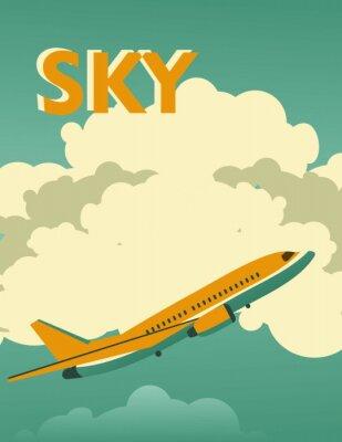 Plakat Sky vintage plakat