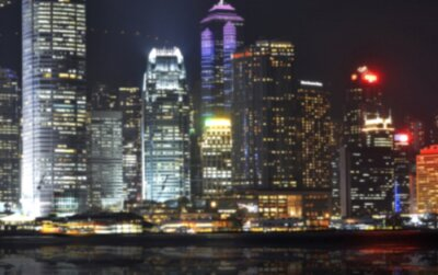 Plakat Skyscaper w Azji - w tle blured