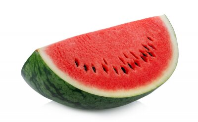 Plakat Sliced of watermelon isolated on white background.