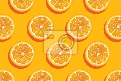 Plakat Slices of fresh orange summer background.
