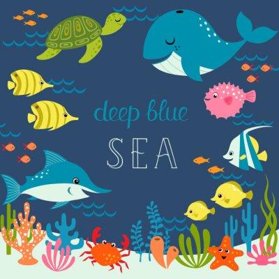 Plakat Śliczne błękitne morze