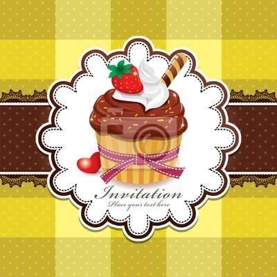 Plakat Śliczne cup cake
